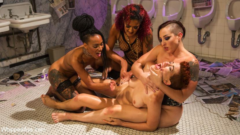 whippedass Dyke Bar 5: New girl spanked, flogged, and strap-on DP'd! Nov 24, 2016 Siterip BDSM Kink.com PORN RIP