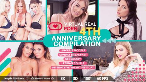 Virtualrealporn FREE: VirtualRealPorn 4th Anniversary compilation  (35:42 min.)  Siterip VR XXX PORN RIP